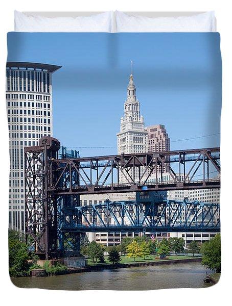 Carter Road Lift Bridge Duvet Cover by Bill Cobb