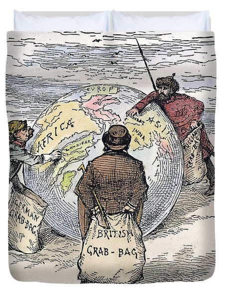 Cartoon - Imperialism 1885 Duvet Cover by Granger