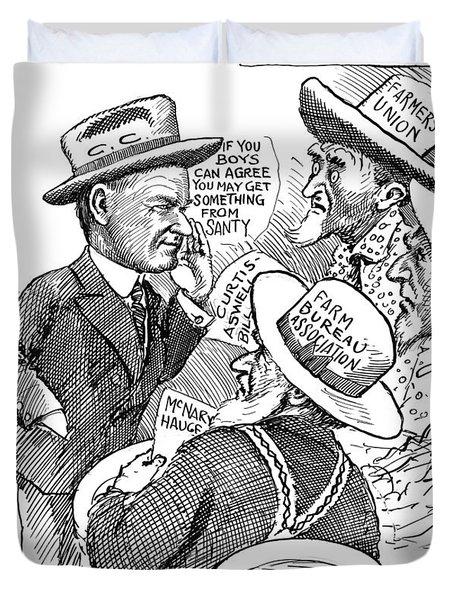 Cartoon Farm Relief, 1927 Duvet Cover