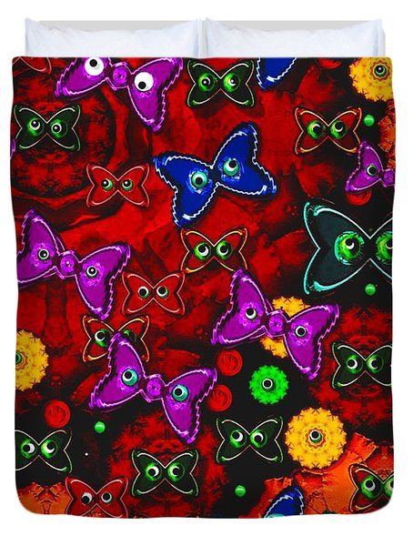 Cartoon In Happy Style Pop Art Duvet Cover by Pepita Selles