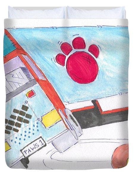 Cartoon Truck Lorry Duvet Cover