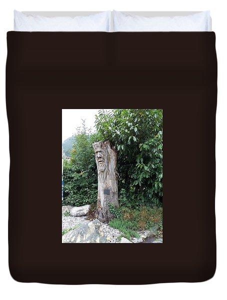 Carved Tree Duvet Cover