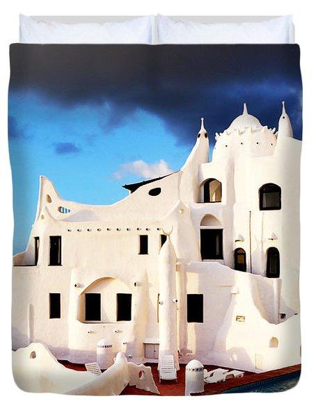 Casa Pueblo Al Mar Duvet Cover
