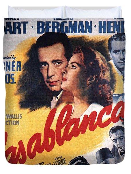 Casablanca In Color Duvet Cover