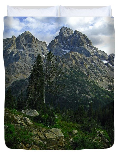 Cascade Creek The Grand Mount Owen Duvet Cover