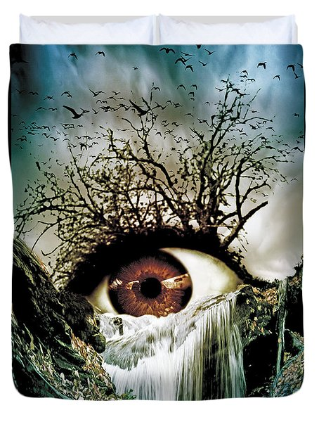 Cascade Crying Eye Duvet Cover