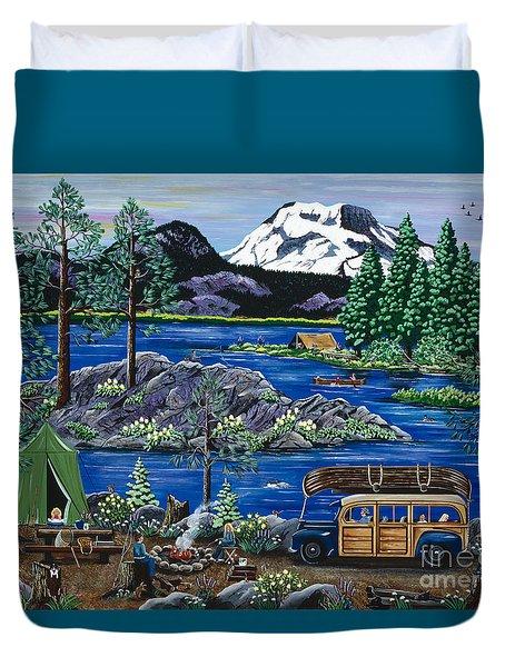 Cascade Lake Sparks Duvet Cover