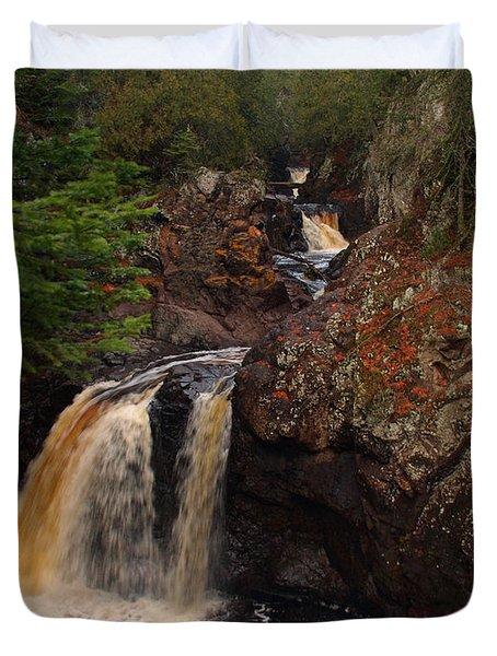 Cascade River Duvet Cover by James Peterson