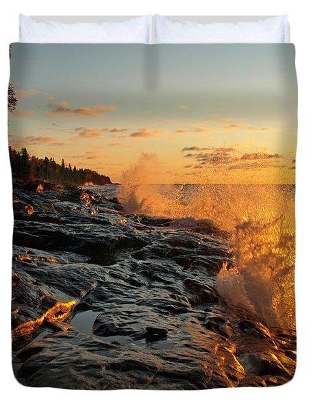 Cascade Sunrise Duvet Cover by Melissa Peterson