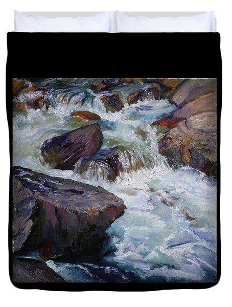 Cascades After Daniel Edmondson Duvet Cover