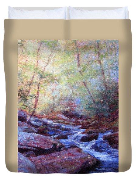 Cascading Duvet Cover by Bonnie Mason