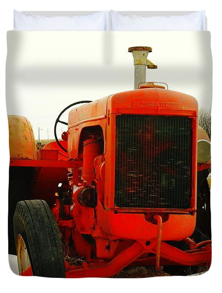 Case Tractor Duvet Cover by Jeff Swan