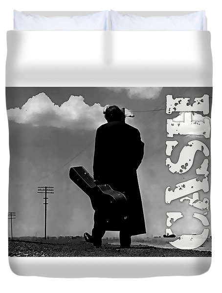 Johnny Cash Duvet Cover by Marvin Blaine