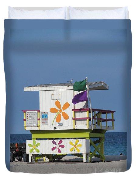 Casita De Playa Duvet Cover