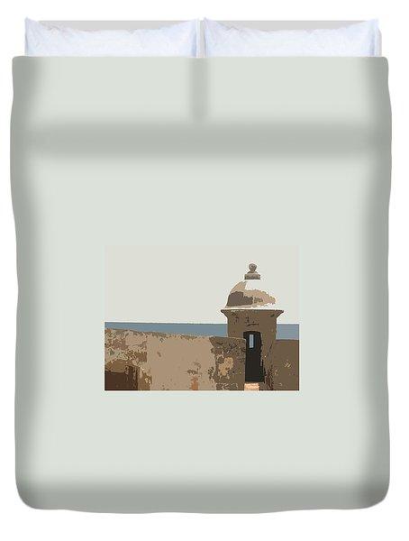 Casita Duvet Cover by Julio Lopez