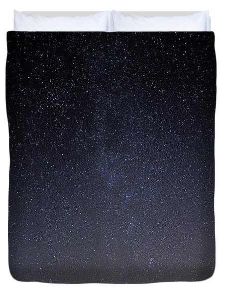 Duvet Cover featuring the photograph Cassiopeia And Andromeda Galaxy 01 by Greg Reed