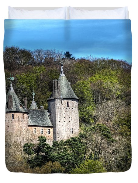 Castell Coch Cardiff Duvet Cover by Steve Purnell