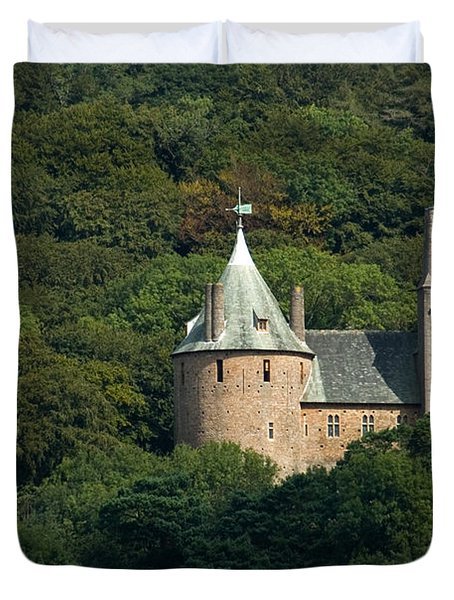 Duvet Cover featuring the photograph Castell Coch by Jeremy Voisey