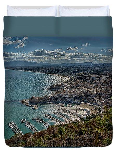 Castellammare Del Golfo Duvet Cover