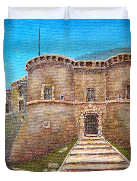 Castello Ducale Di Faicchio Duvet Cover by Pamela Allegretto