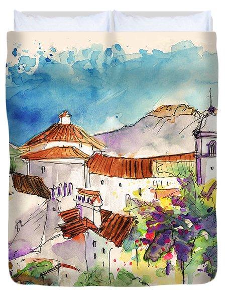 Castelo De Vide In Portugal 01 Duvet Cover by Miki De Goodaboom