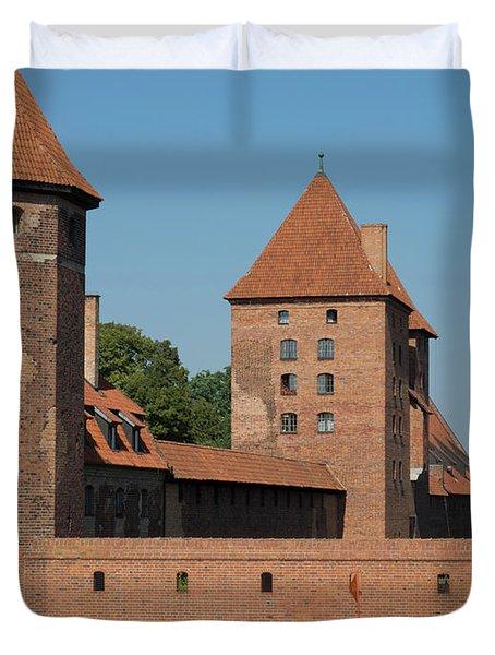 Castle Against Blue Sky, Malbork Duvet Cover