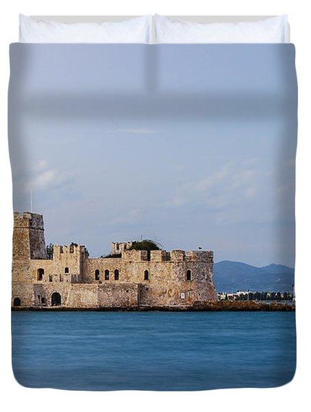 Castle Bourtzi And Buoy Duvet Cover
