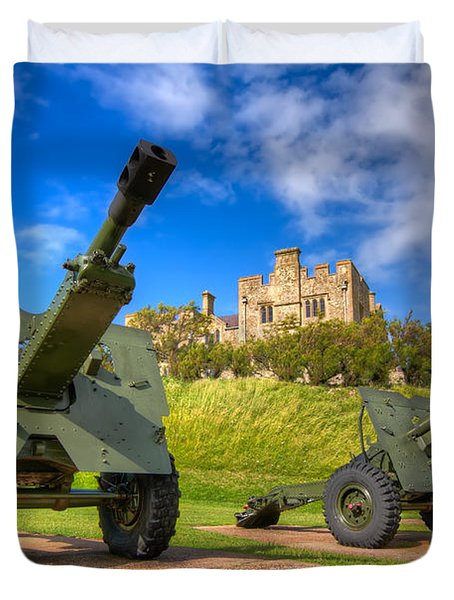 Castle Cannons Duvet Cover by Tim Stanley