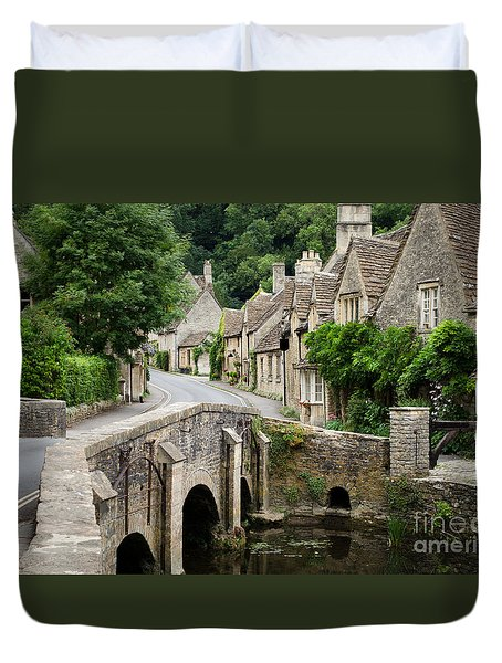 Castle Combe Cotswolds Village Duvet Cover