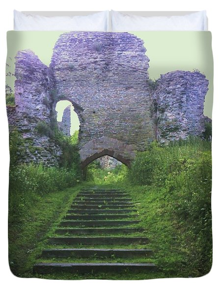 Duvet Cover featuring the photograph Castle Gate by John Williams