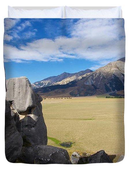 Duvet Cover featuring the photograph Castle Hill #5 by Stuart Litoff
