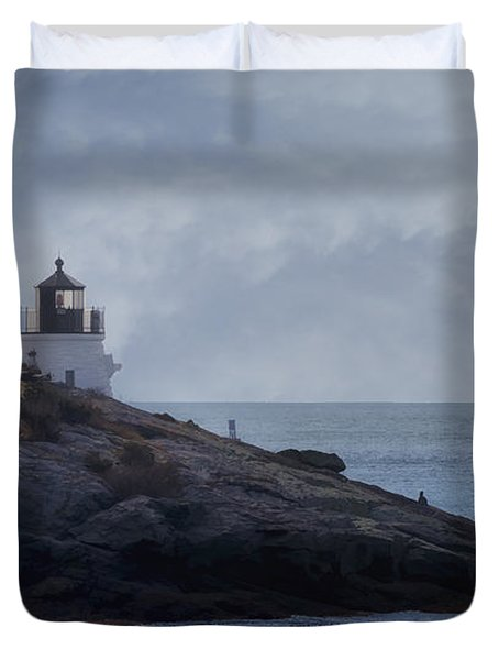 Castle Hill Dream Duvet Cover by Joan Carroll