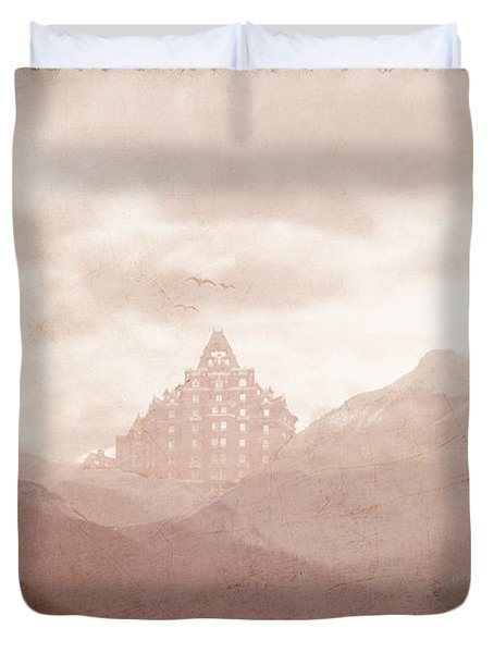 Castle In The Mountains Duvet Cover