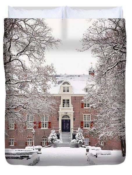 Castle In Winter Dress  Duvet Cover