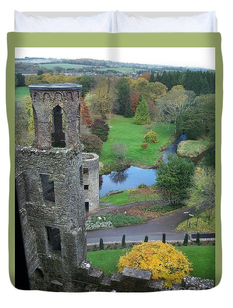 Duvet Cover featuring the photograph Castle Keep by Marilyn Zalatan