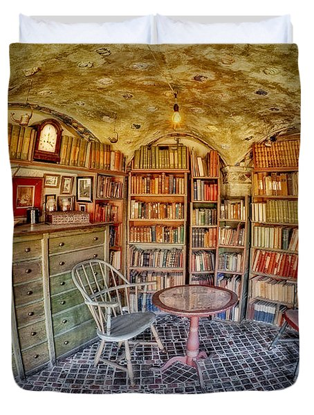 Castle Map Room Duvet Cover by Susan Candelario