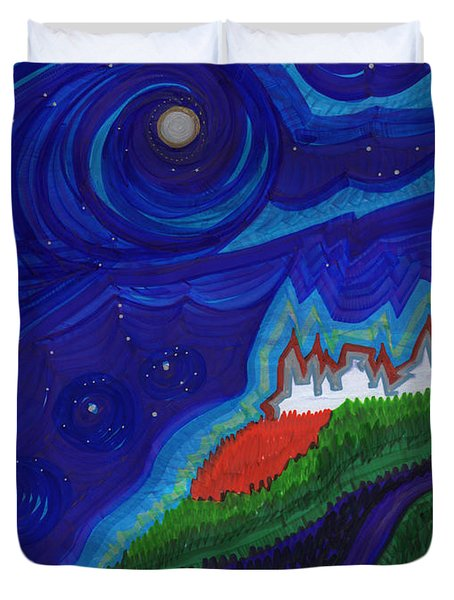 Castle On The Cliff By Jrr Duvet Cover by First Star Art