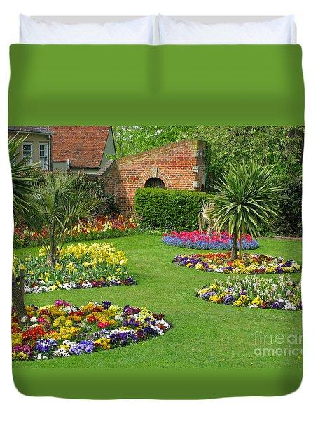 Castle Park Gardens  Duvet Cover by Ann Horn