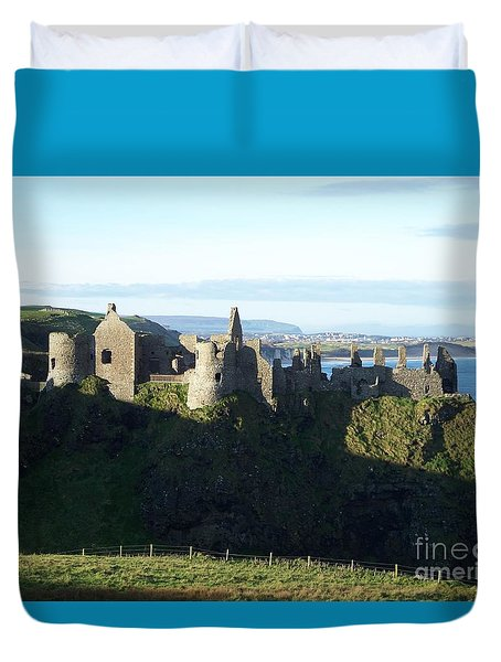 Duvet Cover featuring the photograph Castle Ruins by Marilyn Zalatan