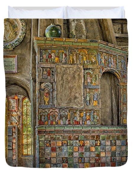 Castle Salon Duvet Cover by Susan Candelario