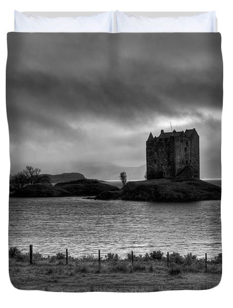 Castle Stalker Bw Duvet Cover