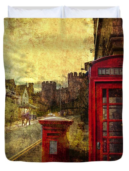 Castle Steet Conwy Duvet Cover by Mal Bray