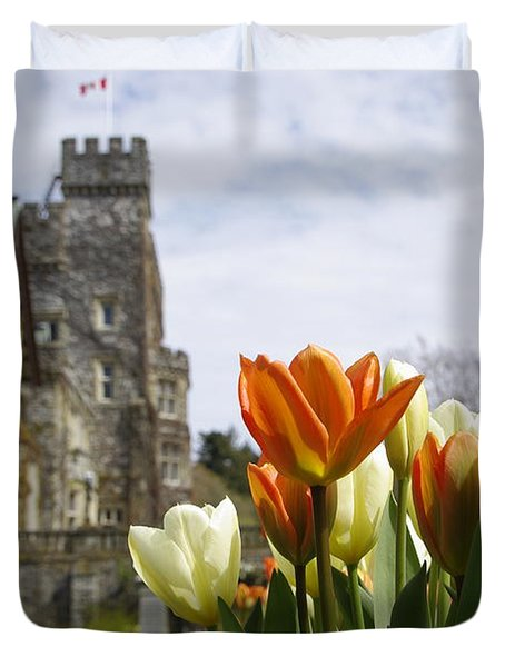 Castle Tulips Duvet Cover