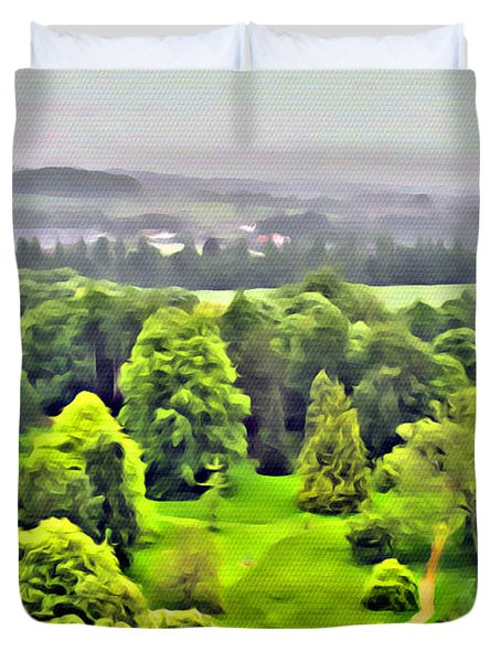 View From The Castle Duvet Cover
