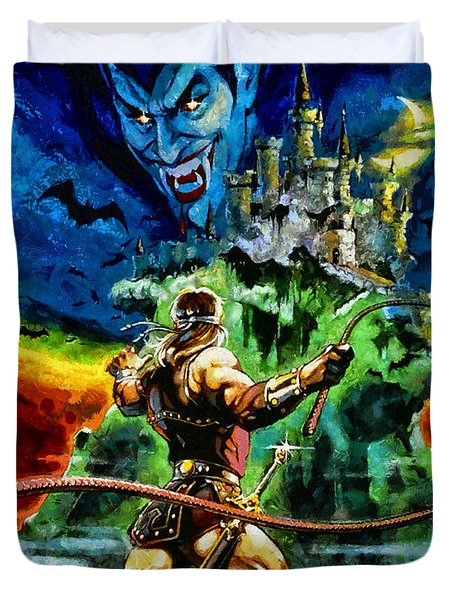 Castlevania Duvet Cover by Joe Misrasi