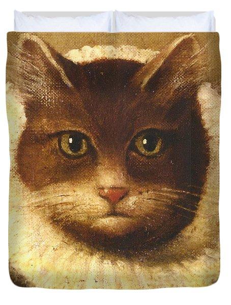 Cat In A Ruff Duvet Cover