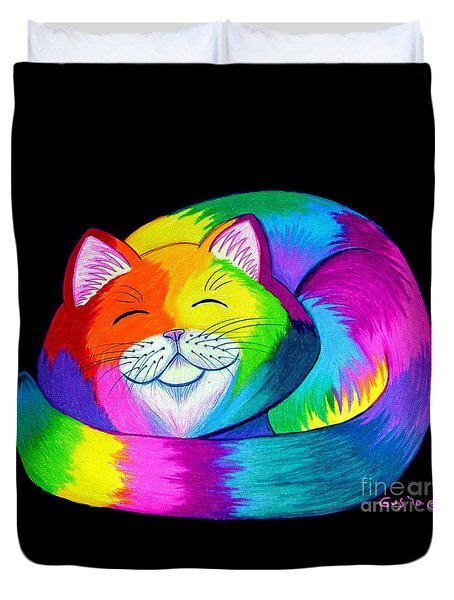 Cat Napping 2 Duvet Cover by Nick Gustafson