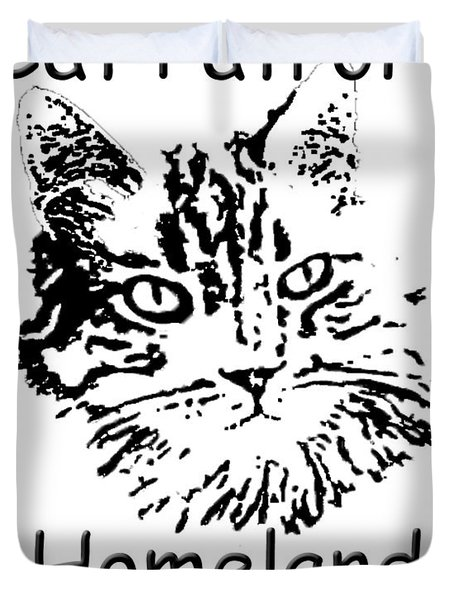 Cat Patrol Homeland Security Duvet Cover