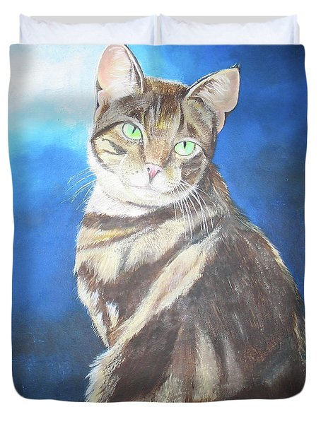 Cat Profile Duvet Cover
