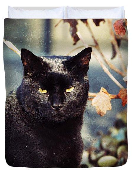 Cat Stevens Duvet Cover by Trish Tritz
